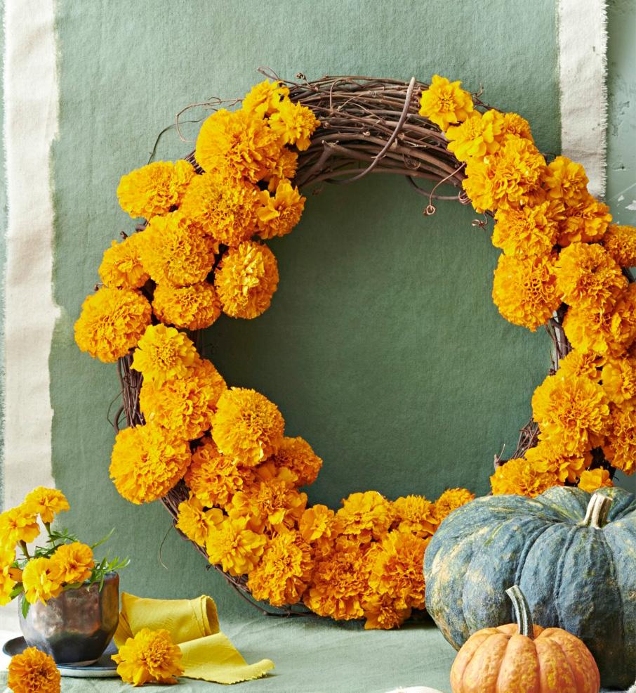 Marigold wreath