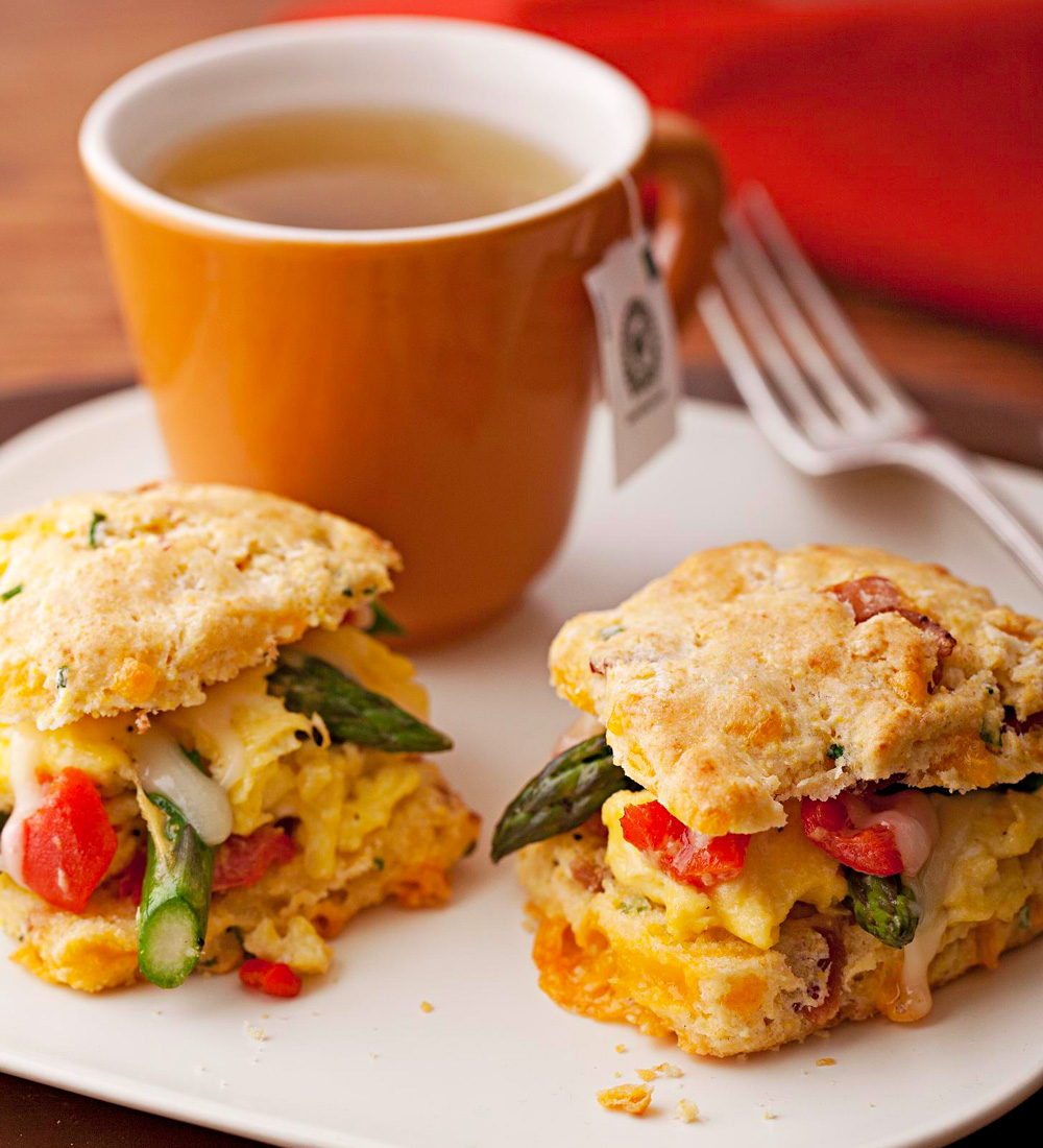 Asparagus Scramble Biscuits