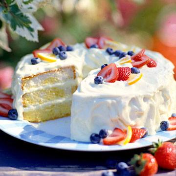Lemon-Cream Dessert Cake