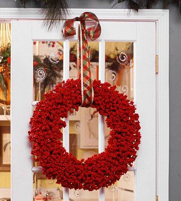 Bright berry wreath