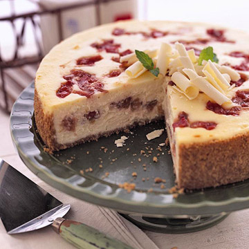 Wisconsin Rhubarb Cheesecake