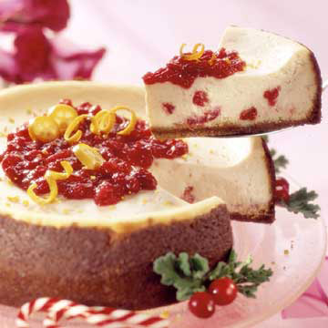 Crimson Cranberry Cheesecake