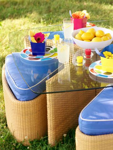 Put out stylish, weatherproof tables