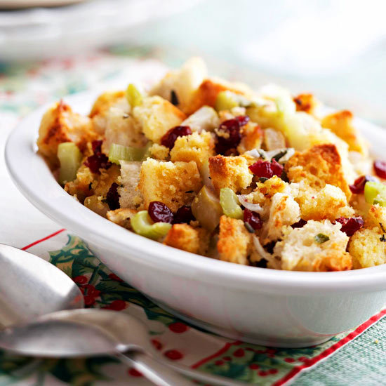 Cranberry-Apple Corn Bread Stuffing