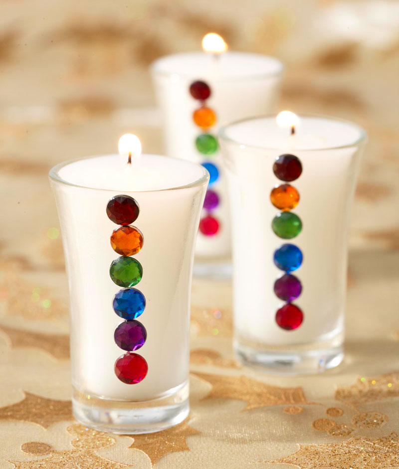Jeweled candles
