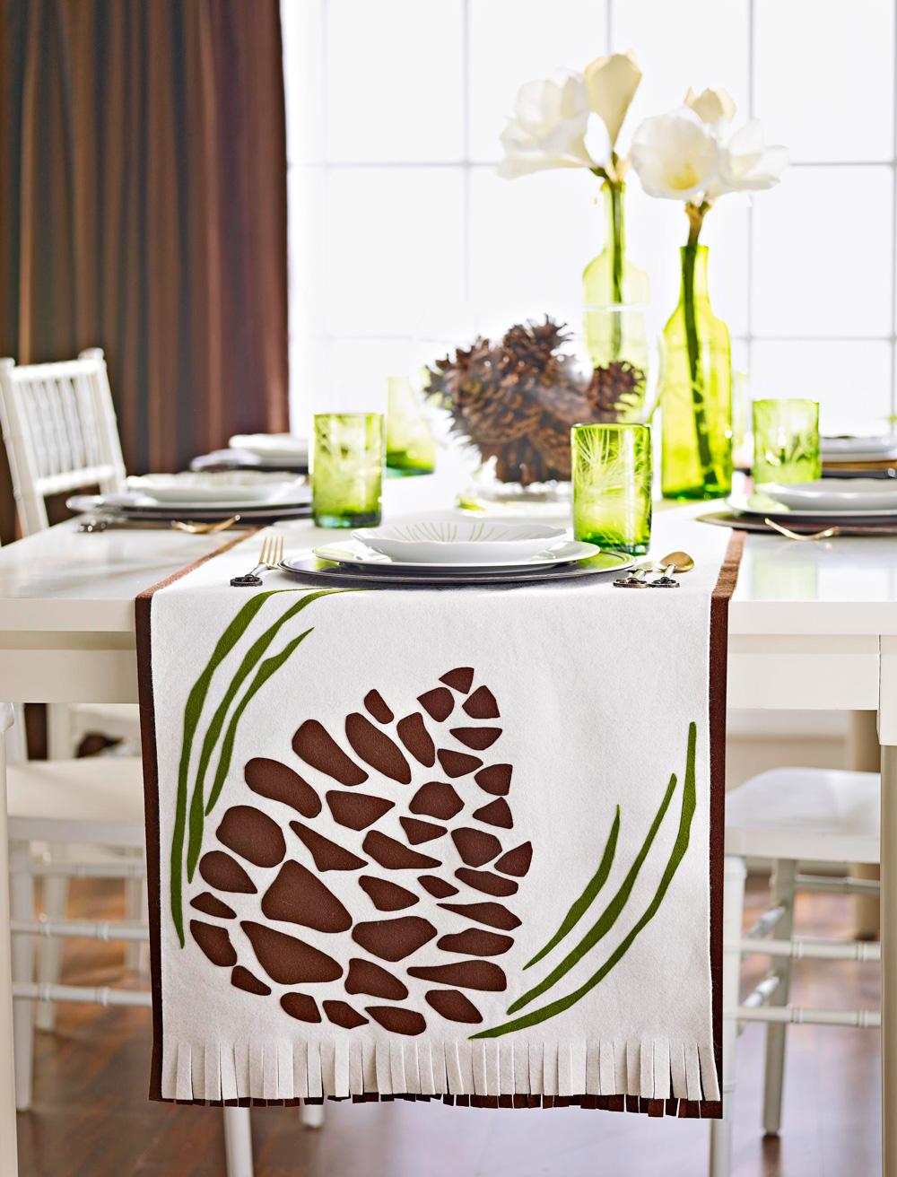 Wintry woods tabletop