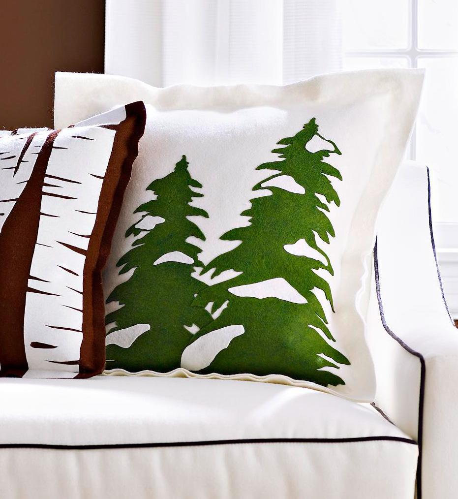 Evergreen trees pillow