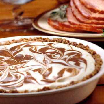 Chocolate Eggnog Swirl Pie