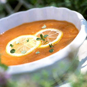 Lemon-on-Lemon Carrot Soup