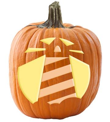 Lighthouse pumpkin stencil
