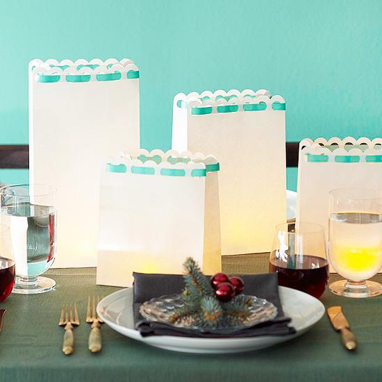 Christmas centerpiece ideas: luminaria