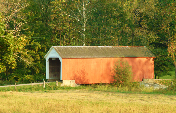 Phillips Covered Bridge. Photo courtesy of Parke County Convention and Visitors Commission