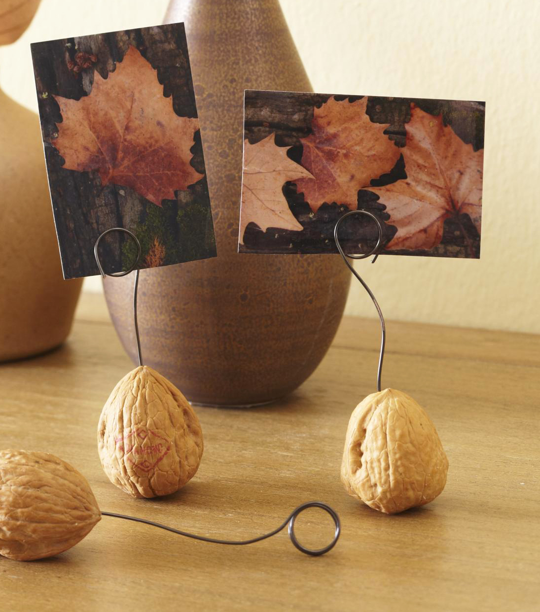Walnut photo holder