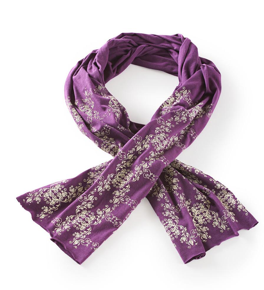 Michelle Brusegaard screen-print scarf