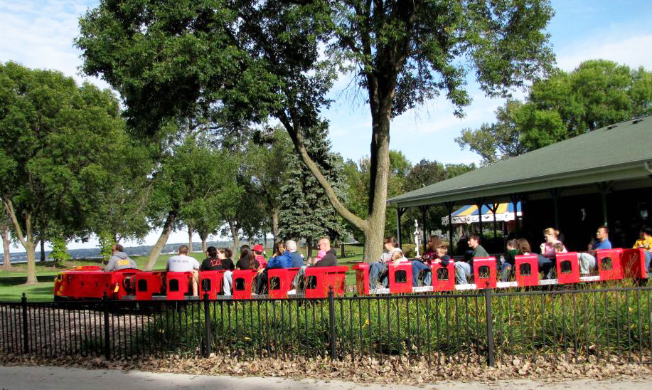 Fun rides for the whole family at Bay Beach Amusement Park in Green Bay, Wisconsin.