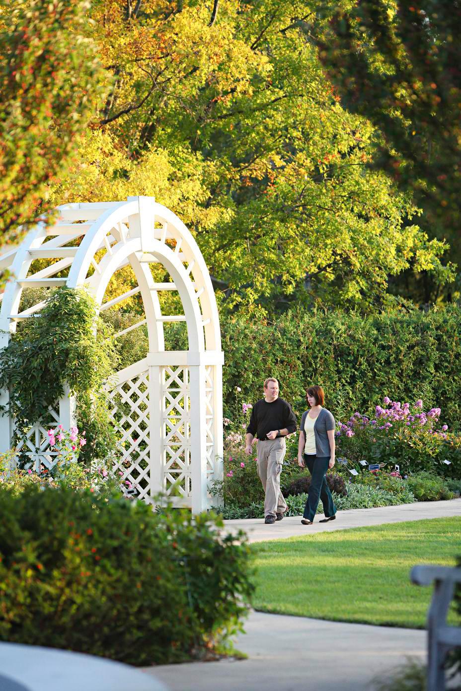 The Green Bay Botanical Gardens in Green Bay, Wisconsin.