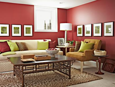 Decorating with red and orange