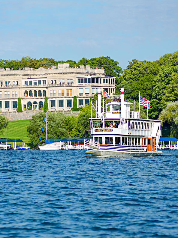 Take a tour on The Lady of the Lake to hear a narrative history of Lake Geneva and its big-name summer residents.