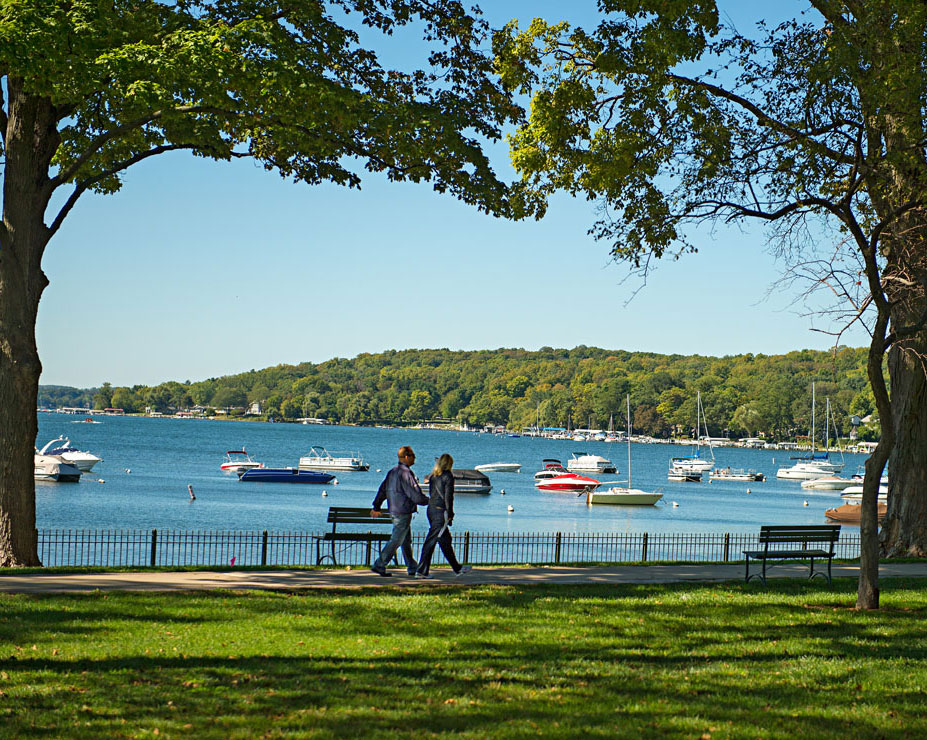 Tour the Geneva Lake Shore Path on your own or join organized groups.