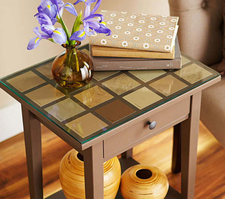 Faux texture tabletop.