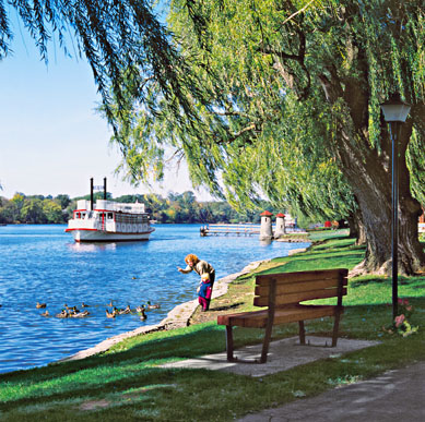 St. Charles Riverboat Cruises sets out on daily sightseeing trips (630) 584-2334; stcriverboats.com. Photo courtesy of St. Charles Convention and Visitors Bureau.