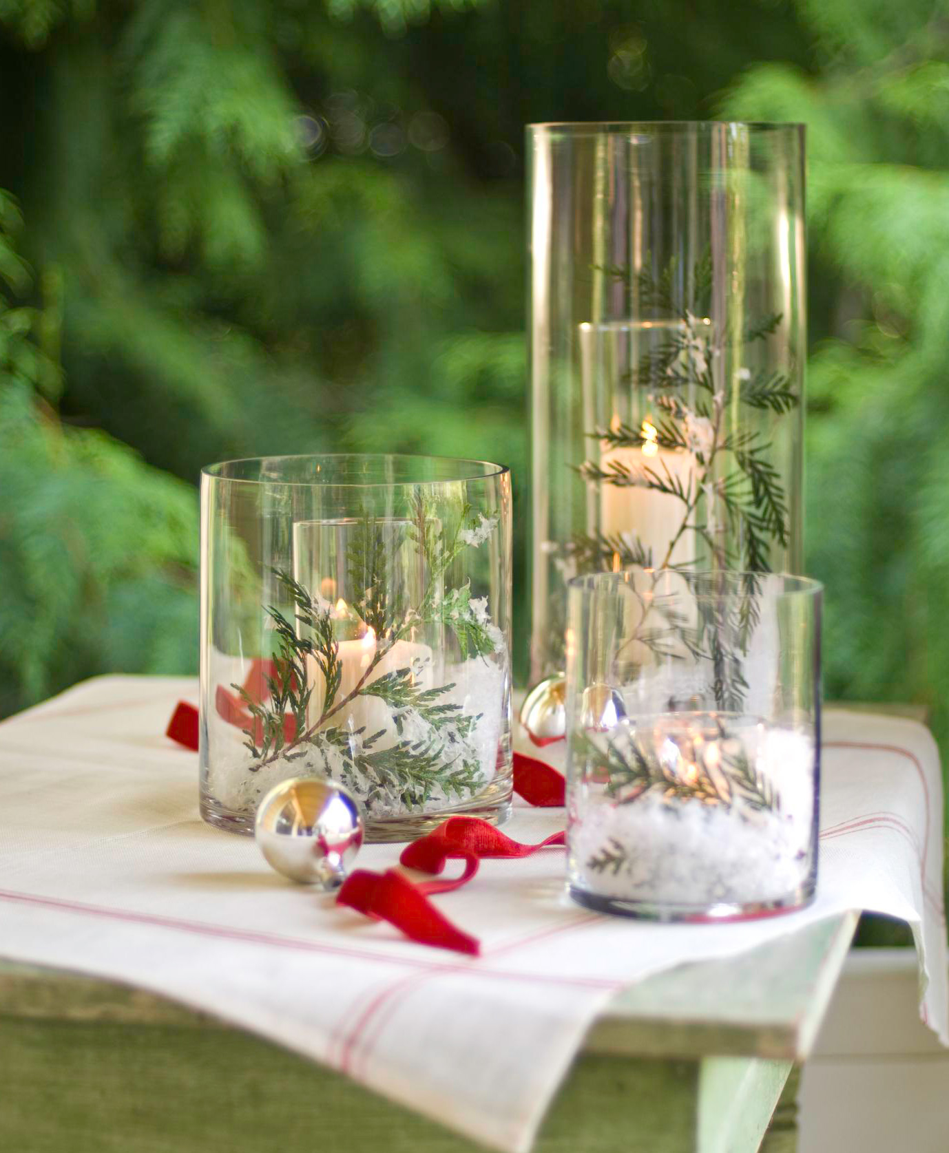 Christmas centerpiece ideas: candles