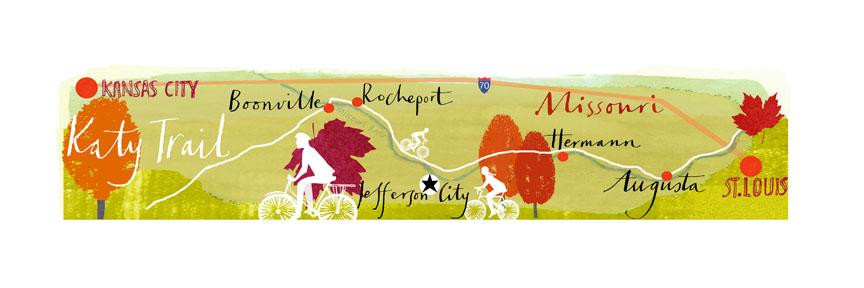 Katy Trail illustration: Suzy Pilgrim.