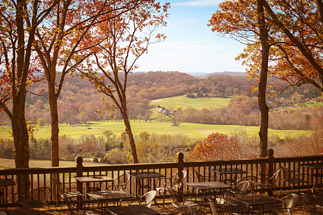 The view from Montelle Winery in Augusta is among the trail's best.