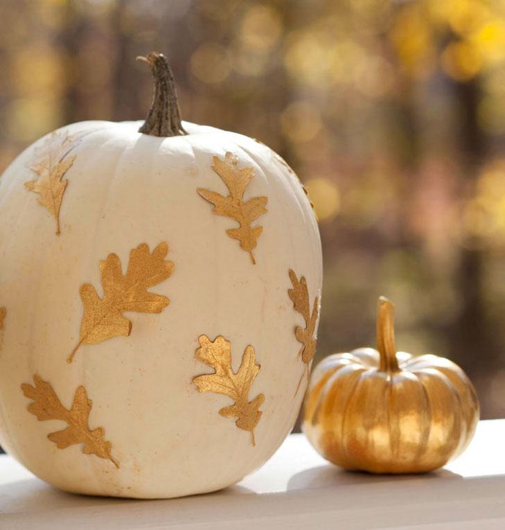 Gold-leaf pumpkin