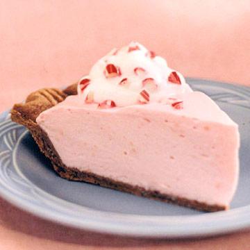 Pink Peppermint Chiffon Pie