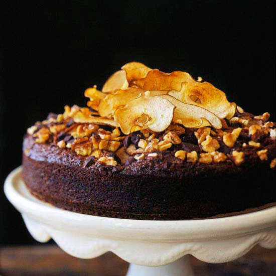 Chocolate-Pear Spice Cake