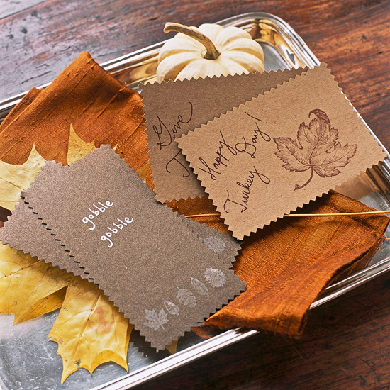 Thanksgiving card tray