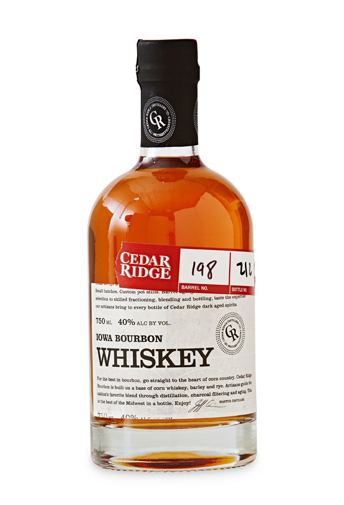 Cedar Ridge Distillery whiskey