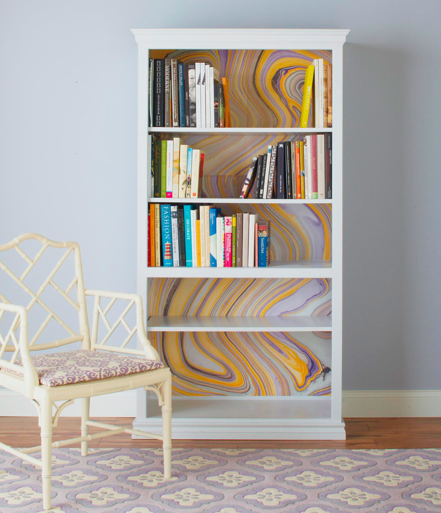 Bright bookcase