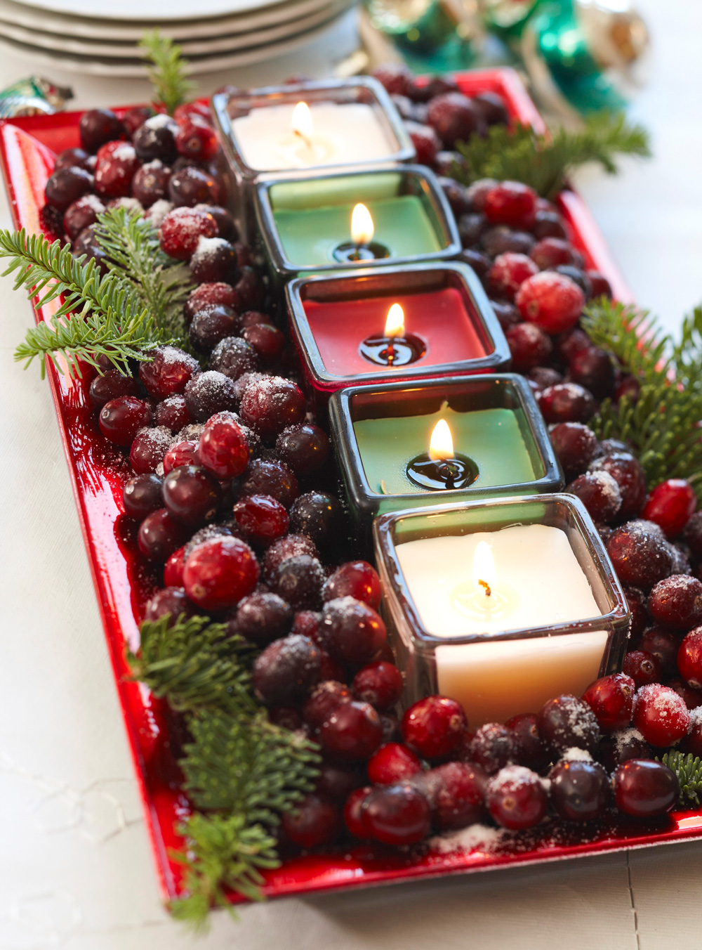 Cranberry candles