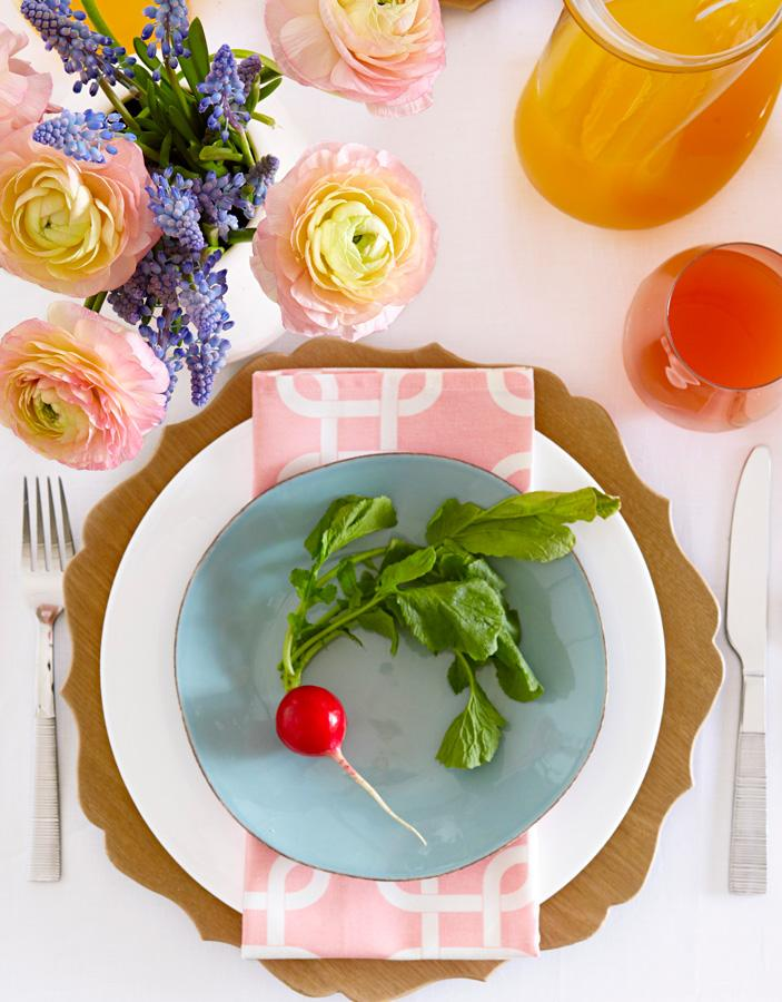 Modern Easter place setting