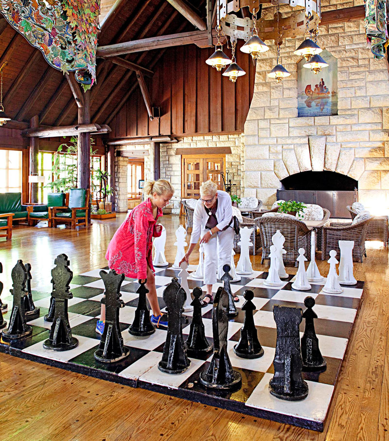 A chess game here takes more effort.