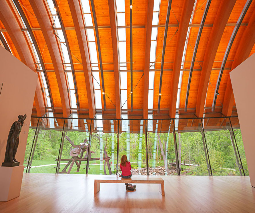 The design of Crystal Bridges and its wooded acres are as much a part of a visit as the artwork.