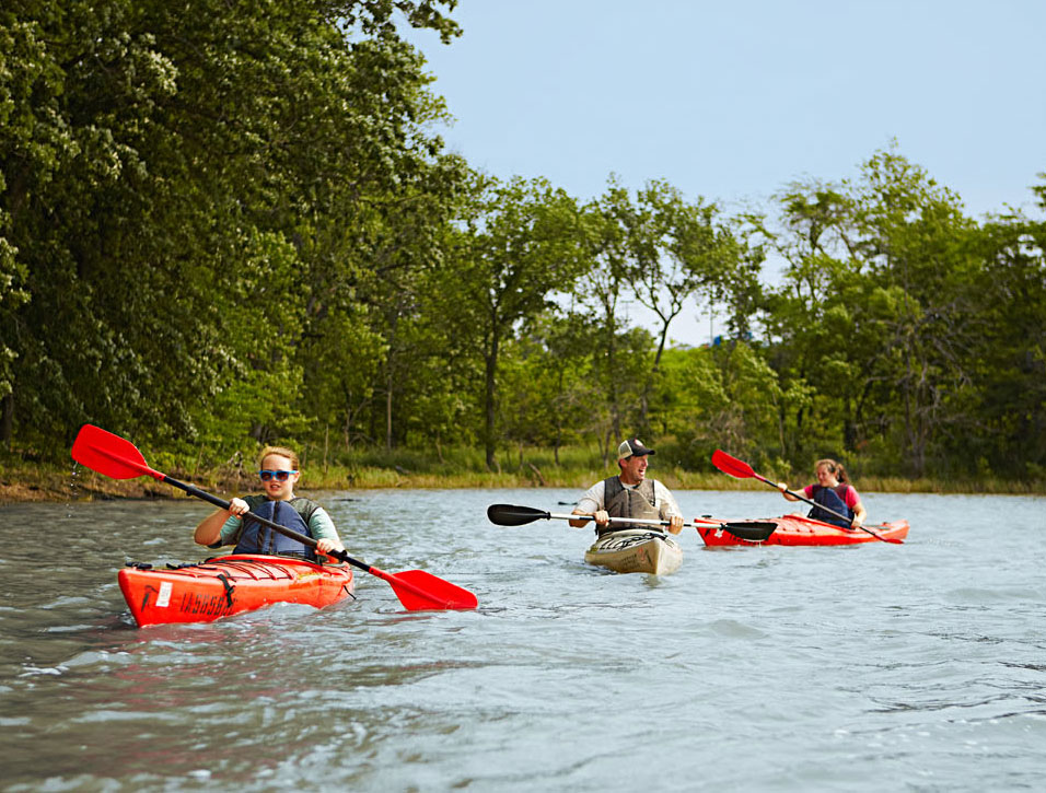 Water sports are a major draw to Iowa's Rathbun Lake.