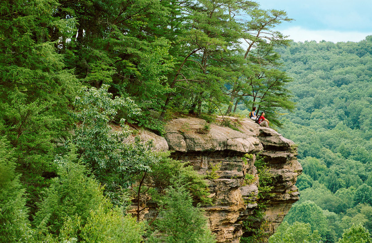 The bluff in Hocking Hills' Conkle's Hollow. Hocking Hills, Ohio.