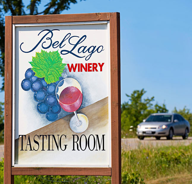 Drink Wine in Michigan at Bel Lago Vineyards and Winery.