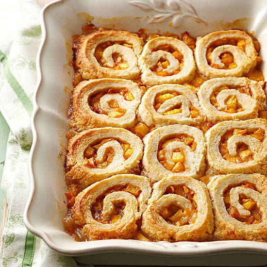 Peach Pinwheel Dumplings