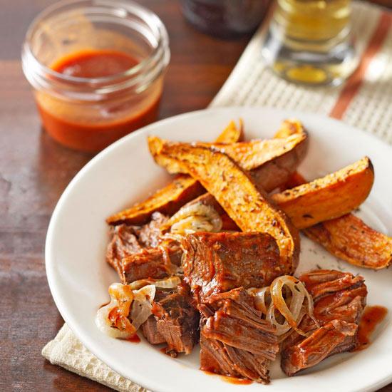 Brisket in Onion-Ale BBQ Sauce