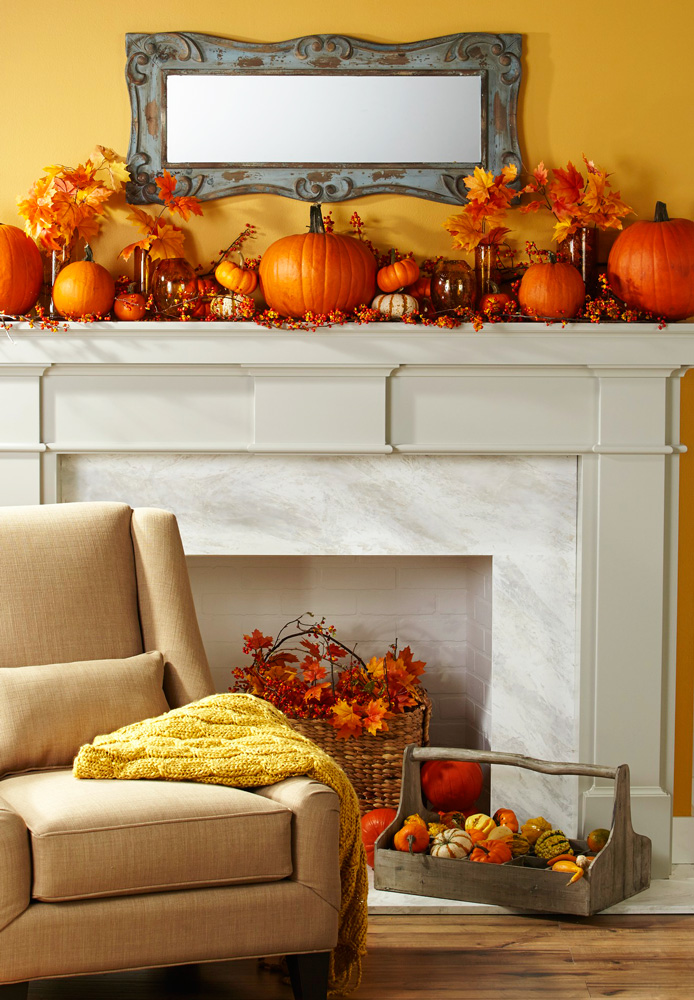 Image result for branches loosely decoration fall mantel