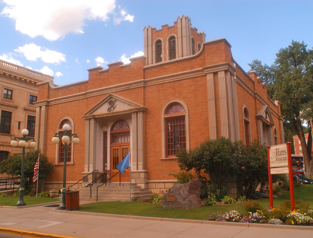 Adams Museum. Courtesy of Deadwood Chamber of Commerce and Visitor's Bureau