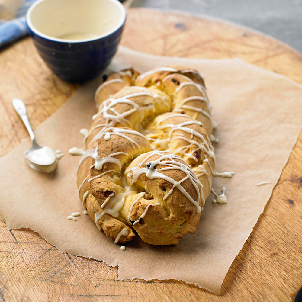 Orange-Glazed Sweet Potato Breakfast Braid