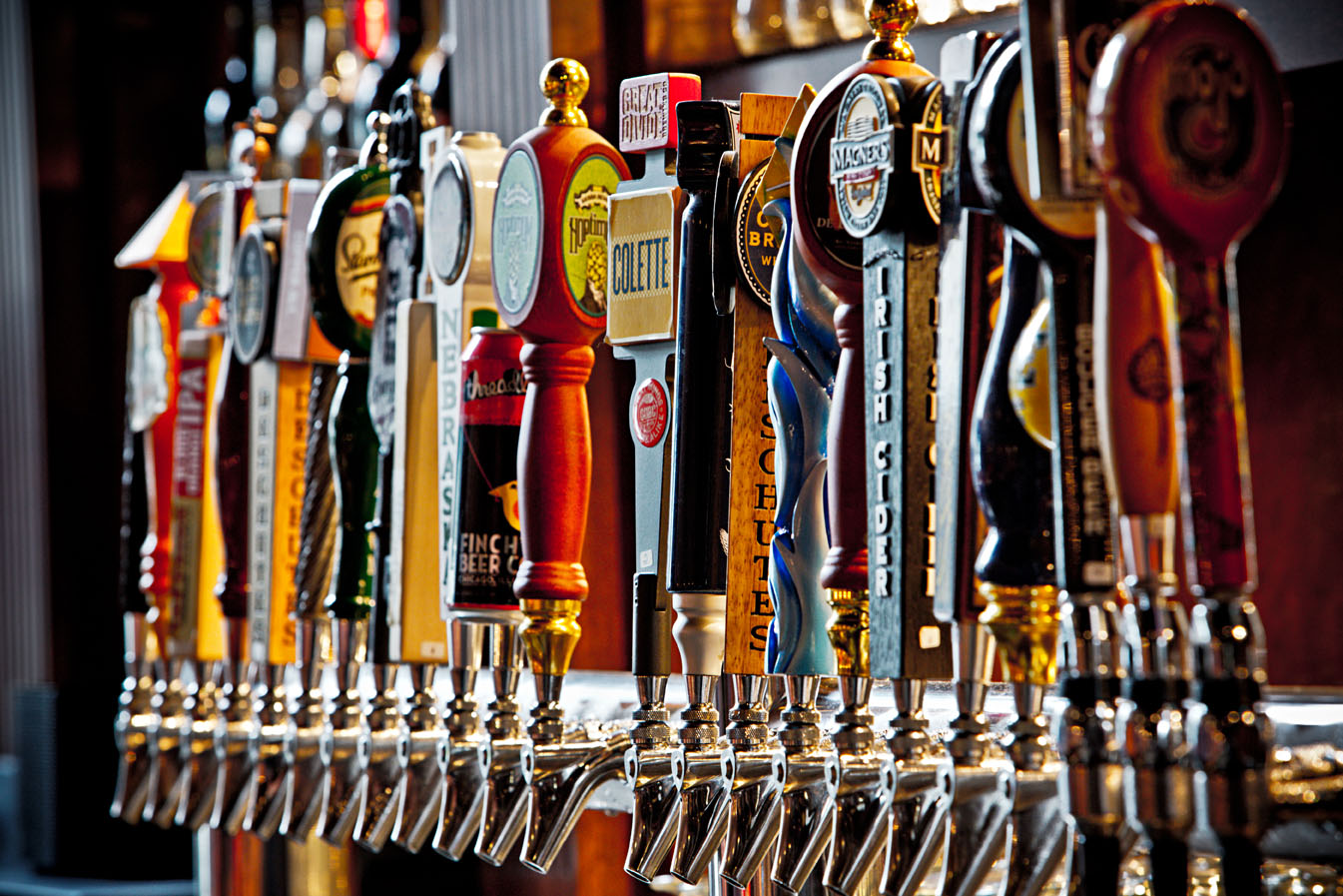 Wilson and Washburn has 24 beers on tap.