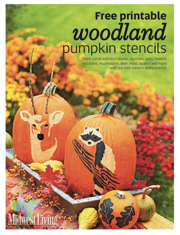 free printable woodland stencil booklet midwest living free printable woodland stencil booklet