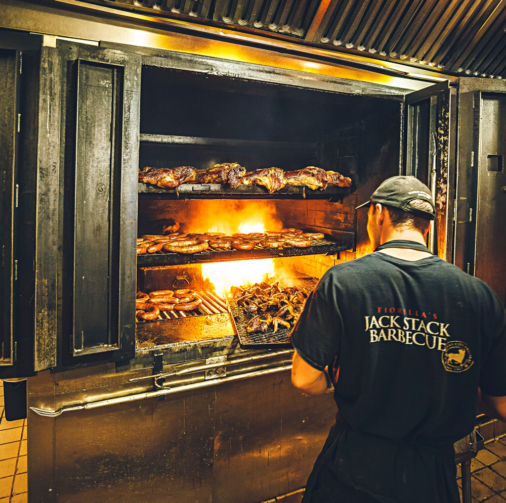 Fiorella's Jack Stack: home of the only wine bar you may ever find in a BBQ place.