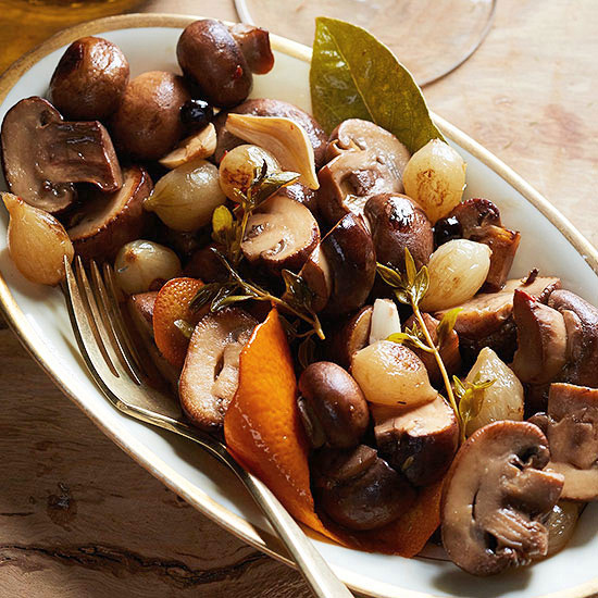 Juniper-Marinated Mushrooms and Onions